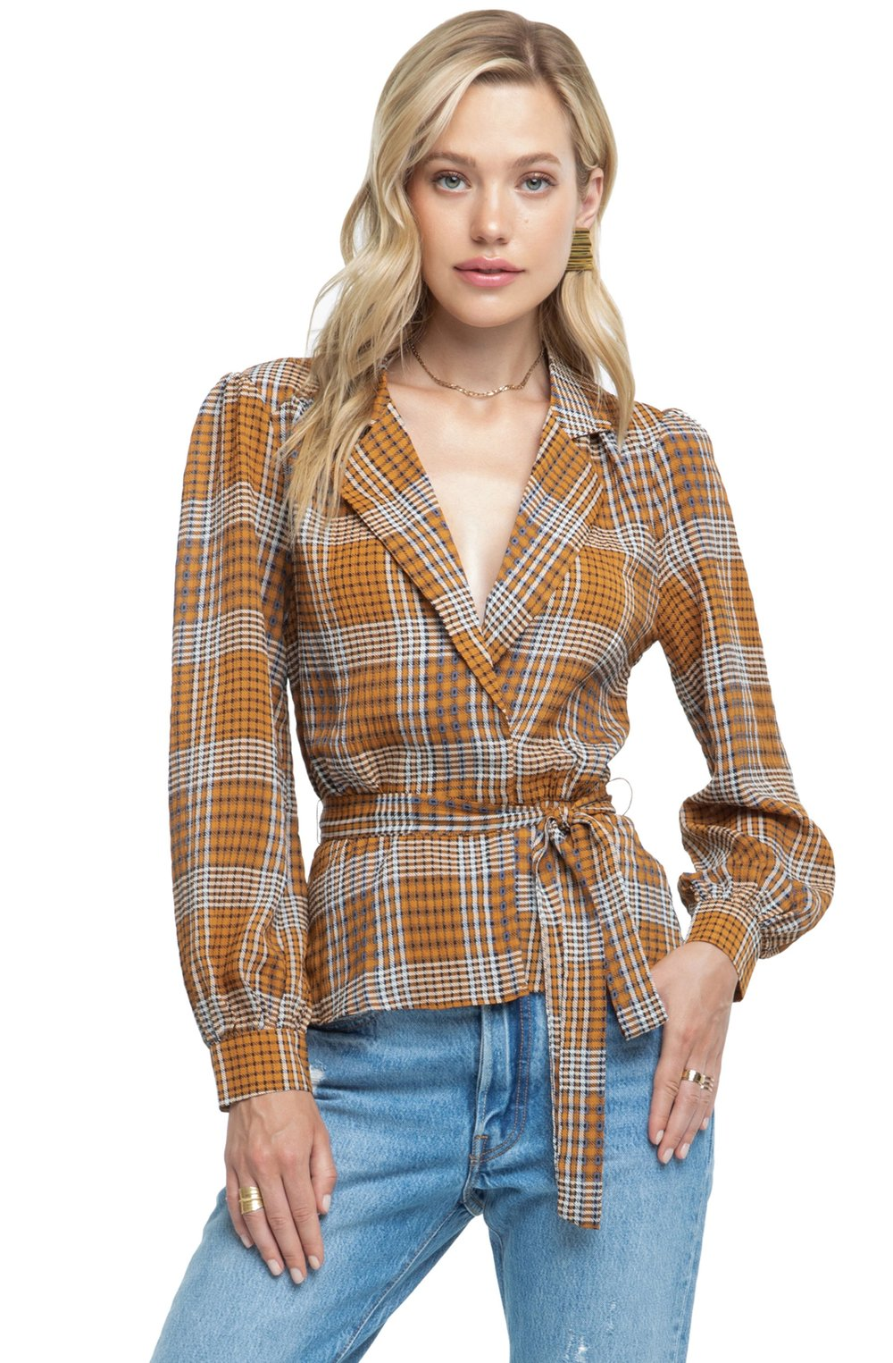 The Front Tie Top - Plaid is our current print obsession & this ASTR top is doing it right. Pair it with your favorite denim for a casual family feast.