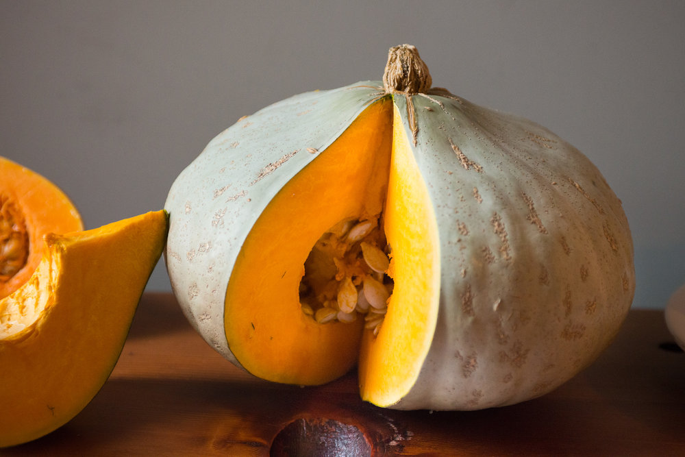 Sweet Meat, an Oregon heirloom squash, is an excellent choice for this recipe!