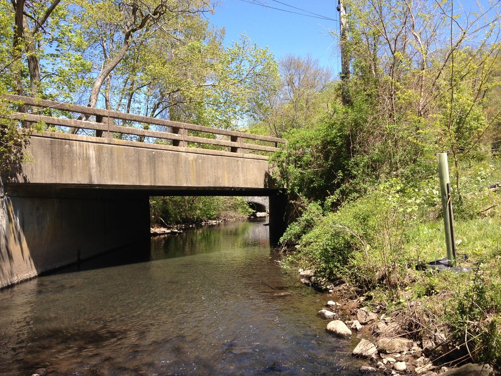 Man-made Creek crossing