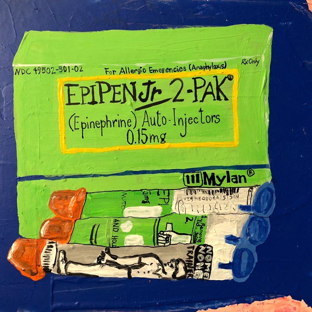 PHARMA SERIES-EPIPEN JR.-ACRYLIC-2017 $250