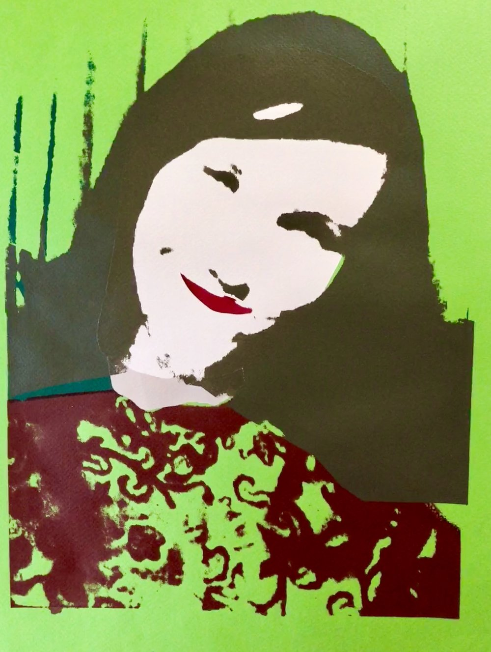 MY MOTHER IN A PHOTO-BOOTH-SILKSCREEN PRINT-2017