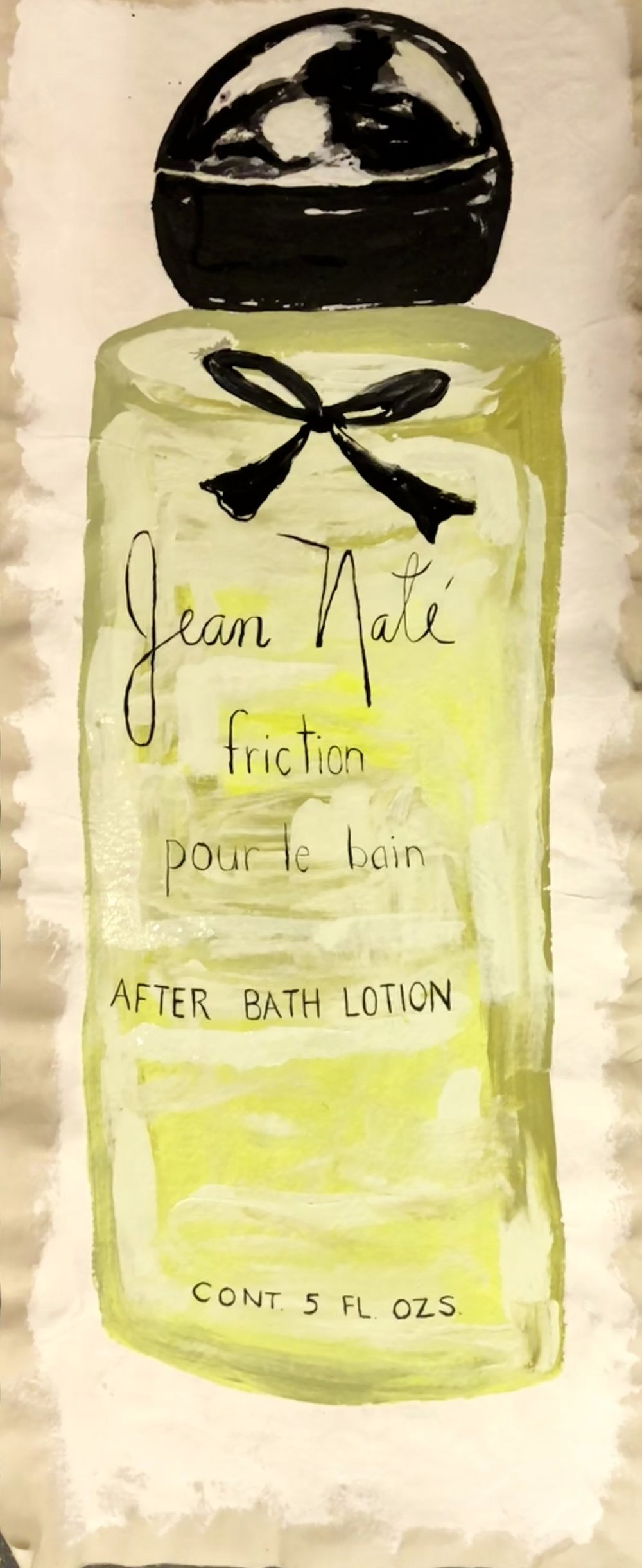 "COSMETICS SERIES-JEAN NATE' FRICTION-ACRLIC ON UNSTRETCHED CANVAS-6'X 30""-2018 $1400"