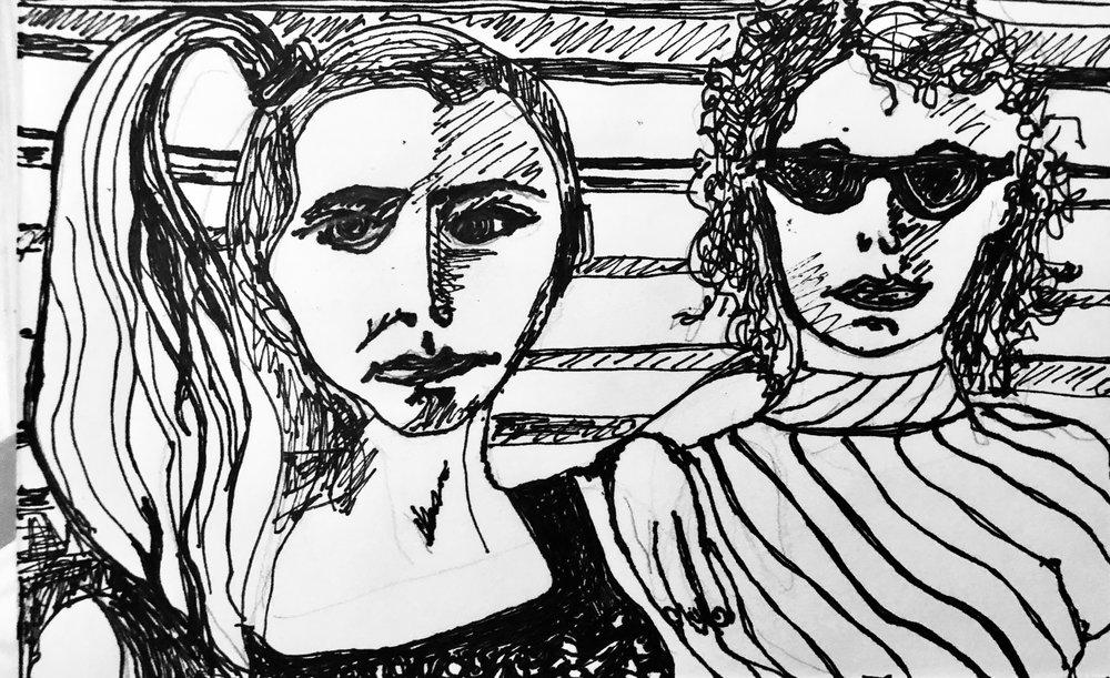 LYNDA AND ME W/ My FAVORITE BETSY JOHNSON SHIRT 1979