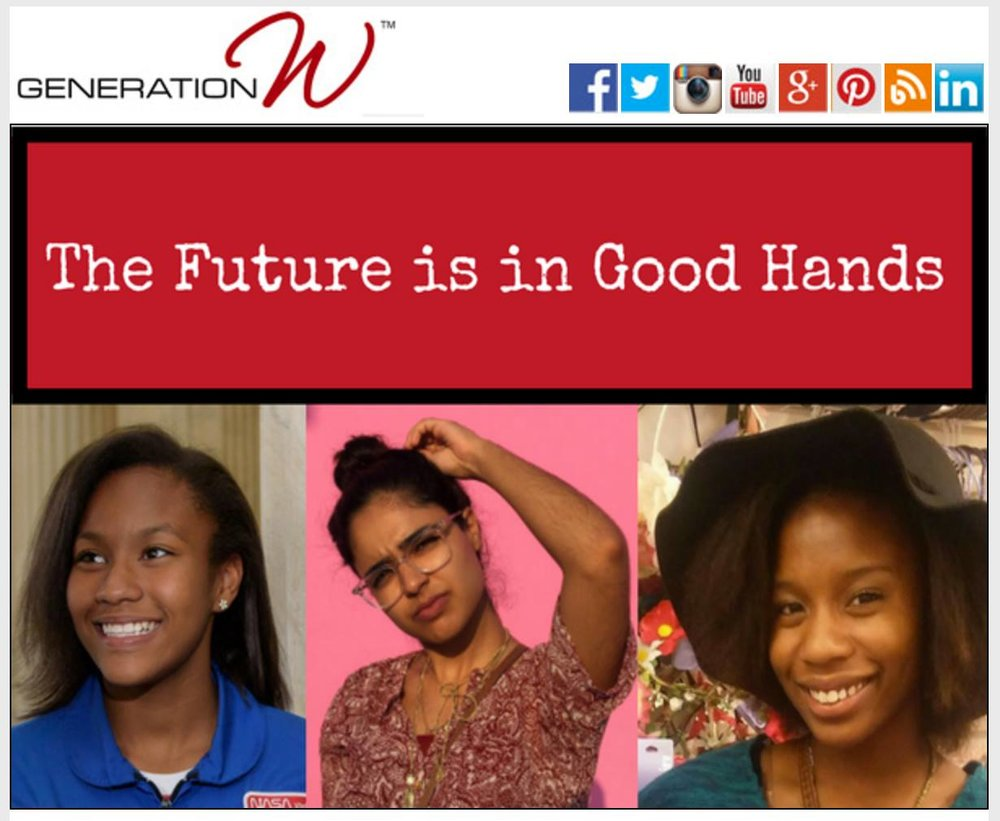 Feature in Generation W, a non-profit dedicated to empowering young women in North Florida.