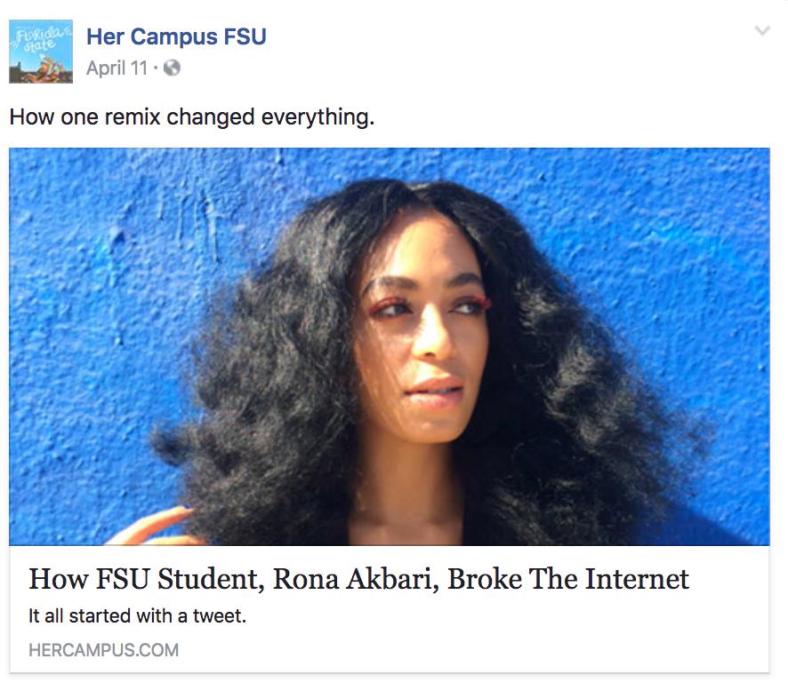 "HerCampus FSU on how I ""broke the internet."""