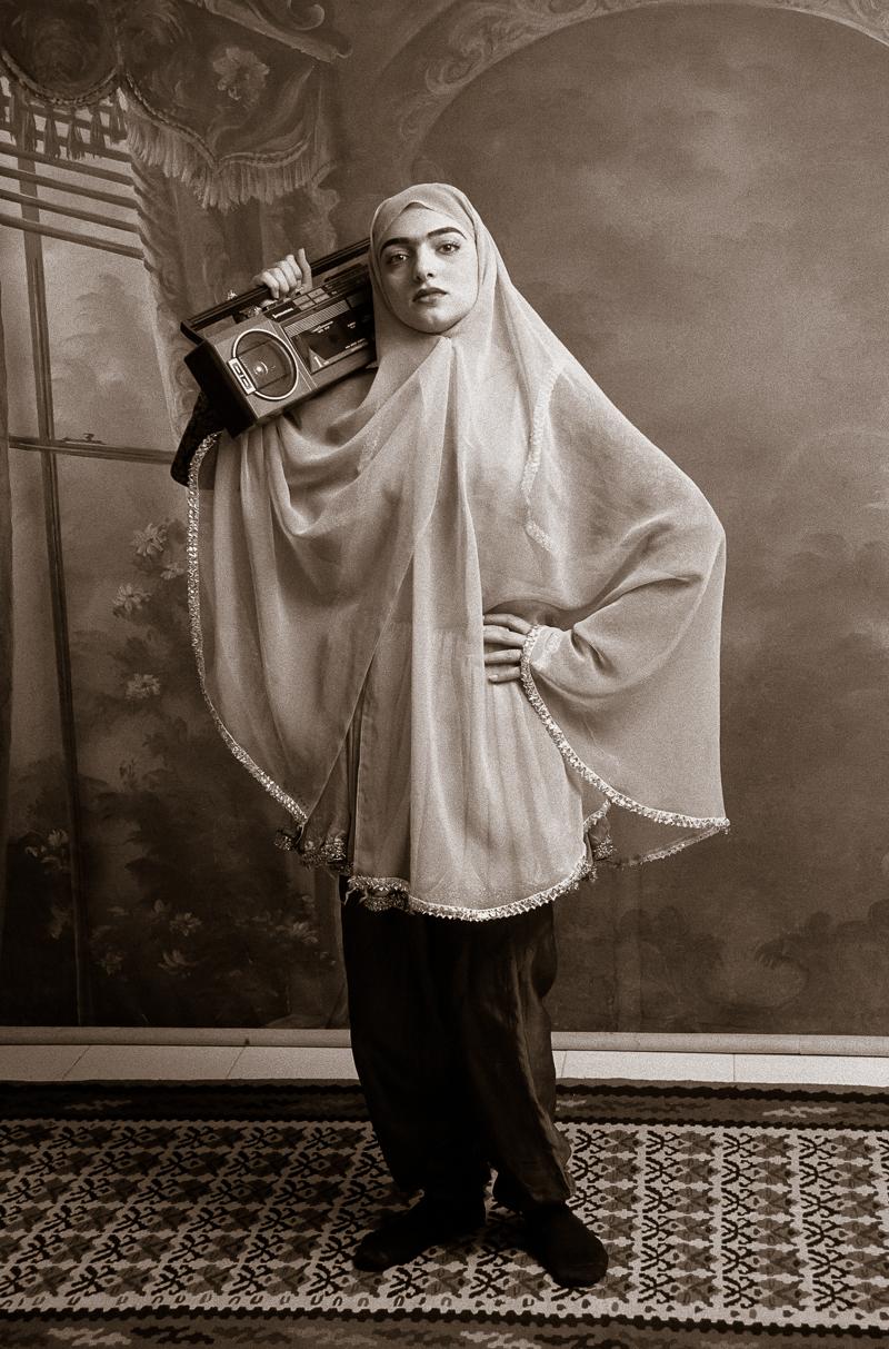 Shadi Ghadirian  ,  Qajar #3 , 1998