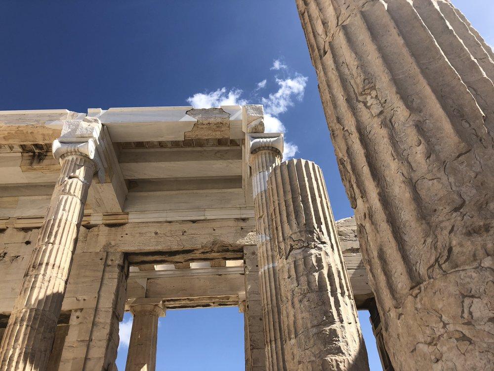 Ionic Column Capitals in the Propylaea