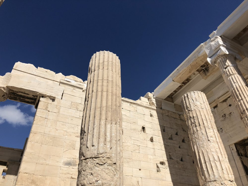 Example of the Damage to the Propylaea