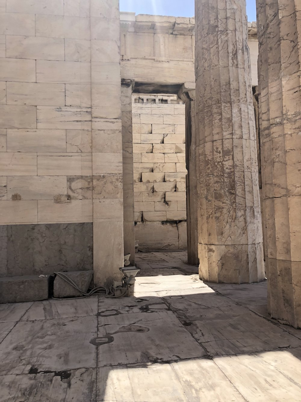 View through the Propylaea's Passageways