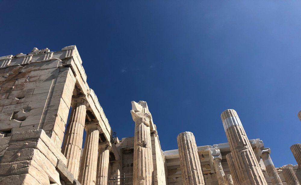 Right Side of the Entrance to the Propylaea