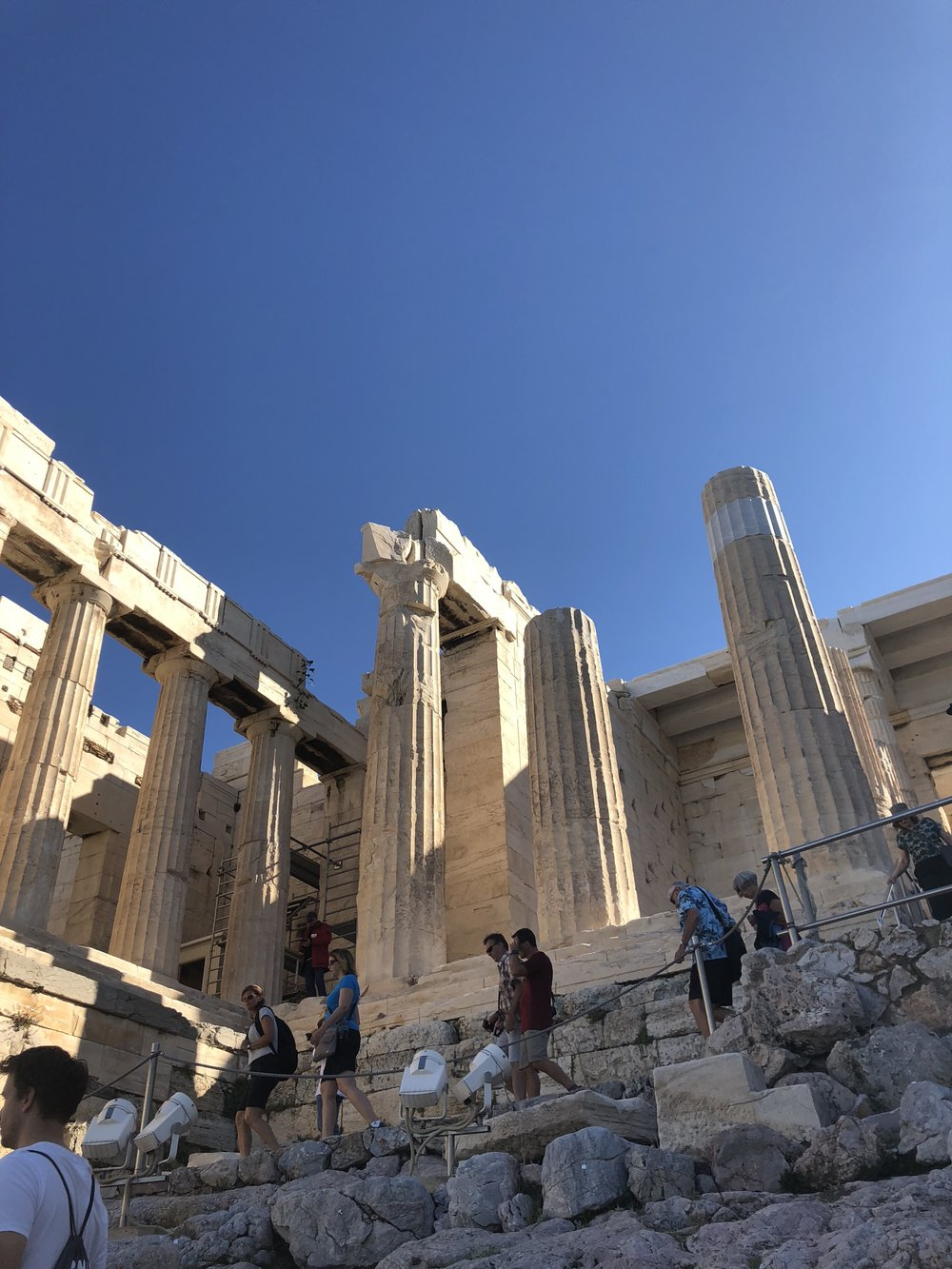 Left Side of the Propylaea Entrance