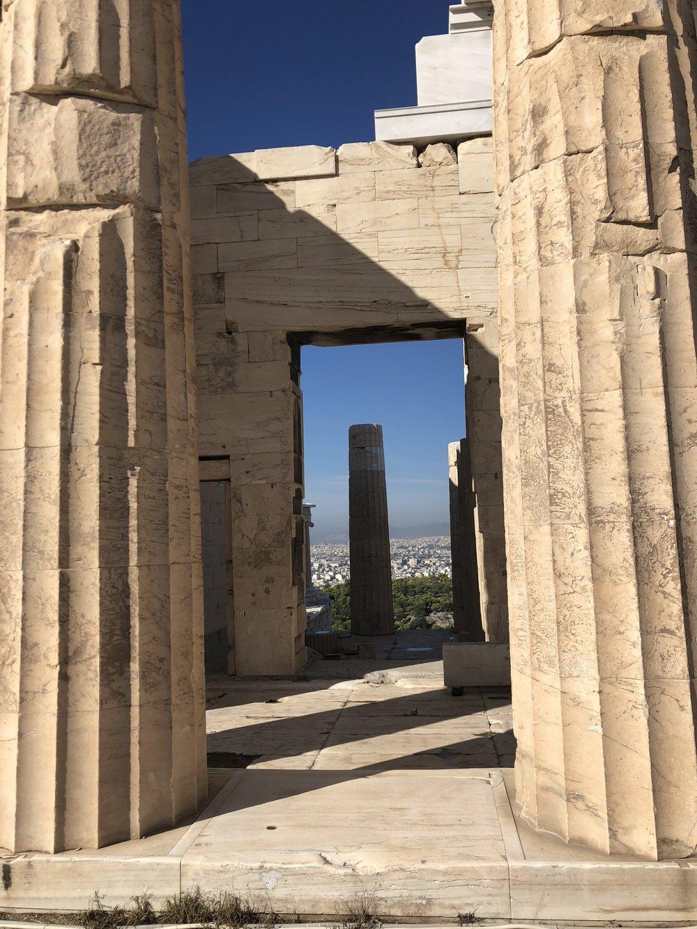 View Through the Propylaea