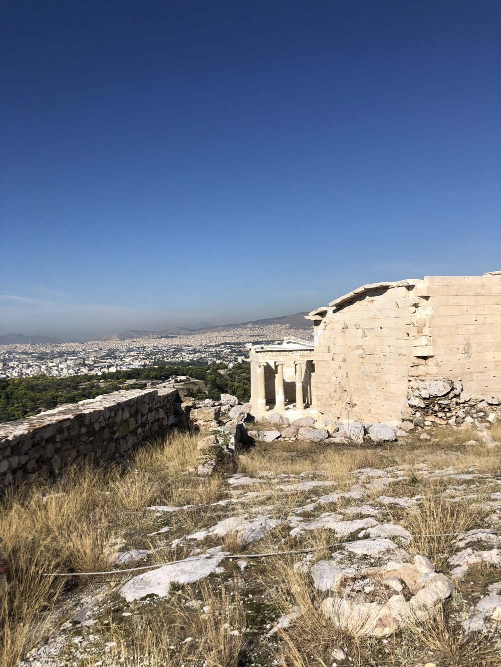 View of the Sanctuary of Athena Nike from the Acropolis