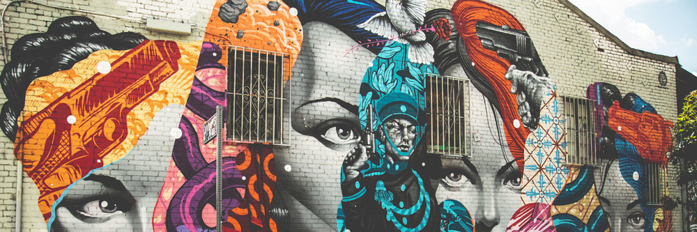 Beautiful mural in the Arts District in Downtown Los Angeles