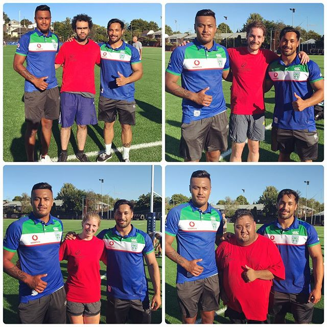 We all want that photo! So exciting to have two Warriors players joining us. Thank you so much Adam and Pat, you were amazing! #WeAreWarriors