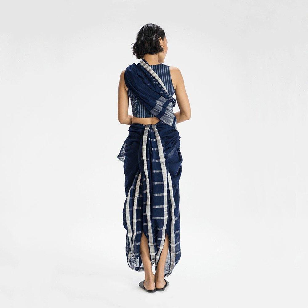 Dhangad sari drape from Goa