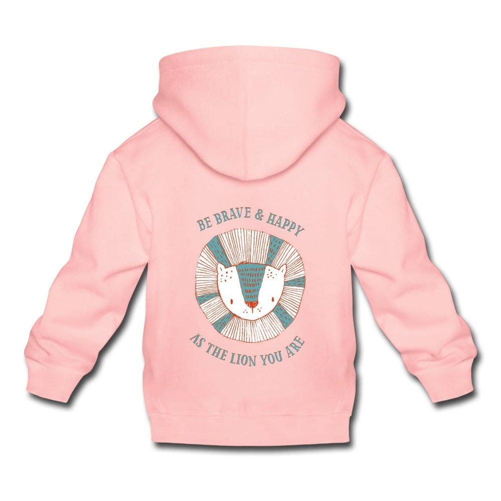 Rosa premium hoodie med tryck på ryggen 339 kr