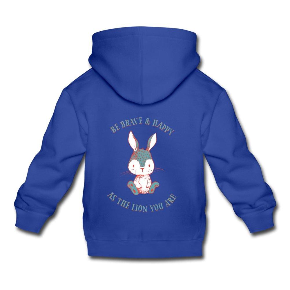 Blå premium hoodie med kanintryck 339 kr