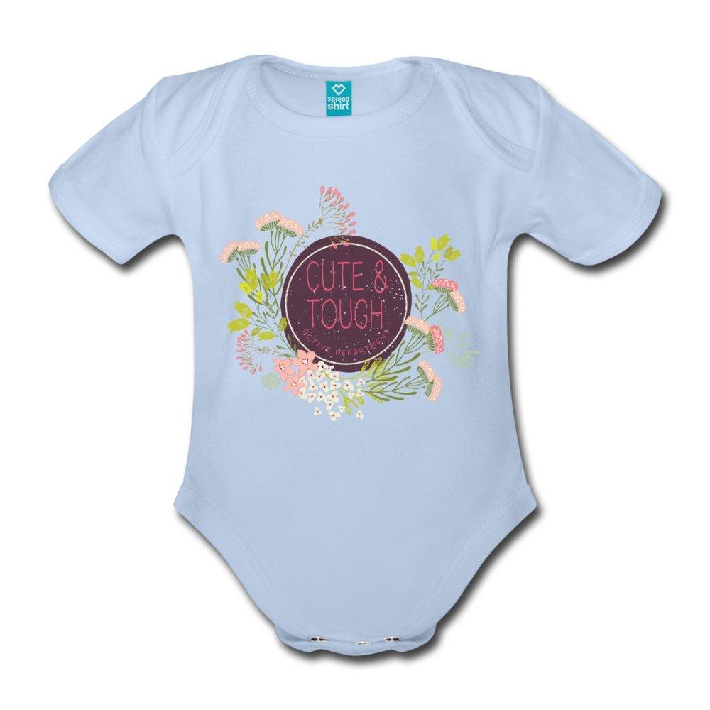 Babybody i en fin ljusblå färg. Även här med dubbla axelsömmar. Nickelfria tryckknappar. Stl. 56-86/92.