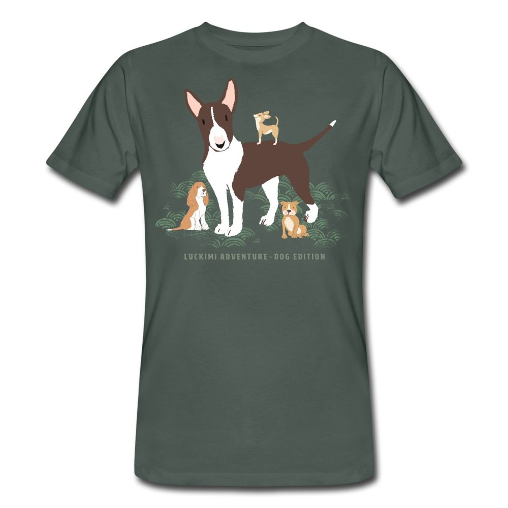 Herr t-shirt för alla hundälskare. Ekologisk bomull. Hundtryck. Luckimi www.luckimi.com @luckimibrand