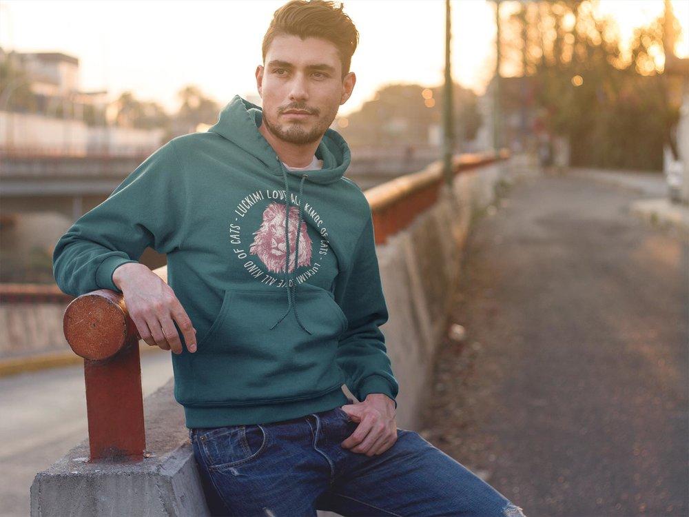 Petrolfärgad hoodie för killar, herr och män. Luckimi @luckimibrand www.luckimi.com