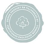 Stämpel för plagg tillverkade i ekologisk bomull t.ex.. t-shirts, tröjor och hoodies.