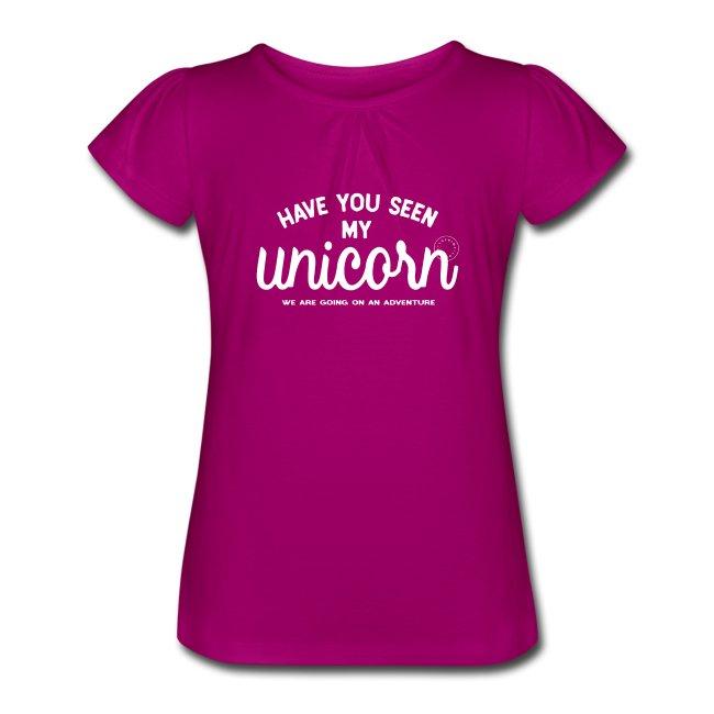 Unicorn flick t-shirt med kort ärm. www.Luckimi.com