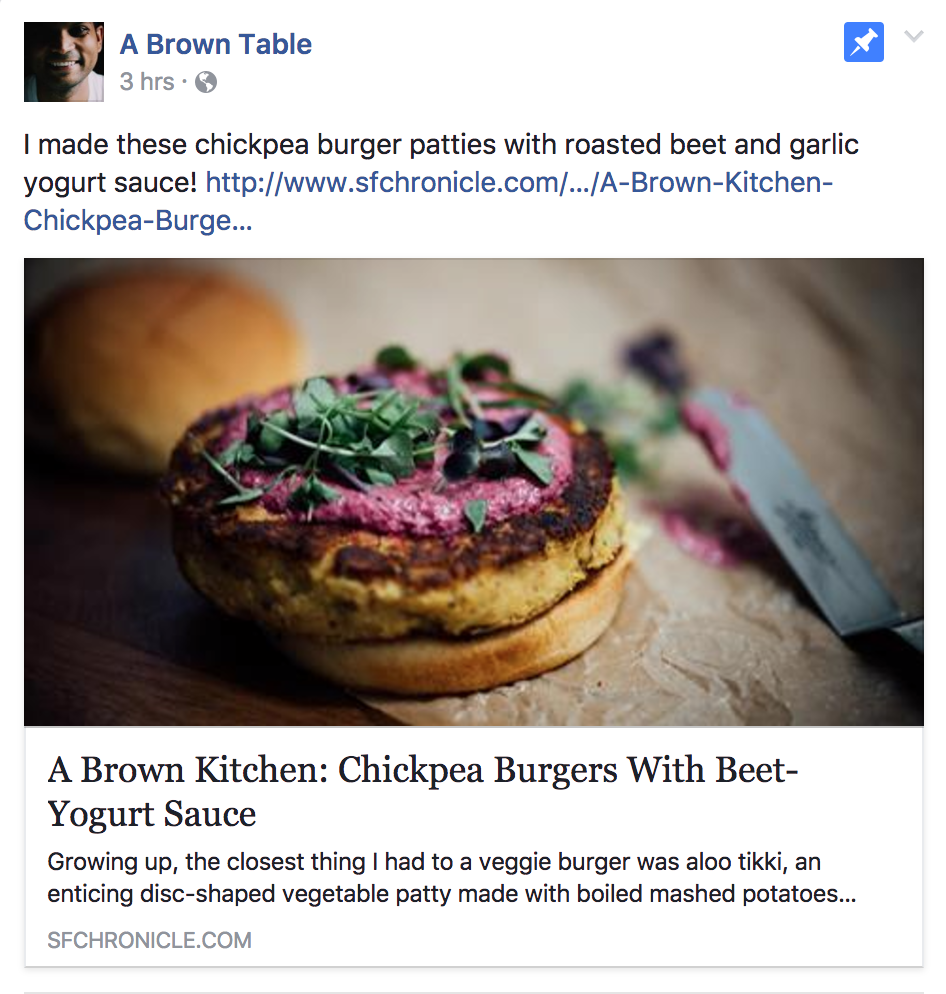 A Brown Table: Facebook