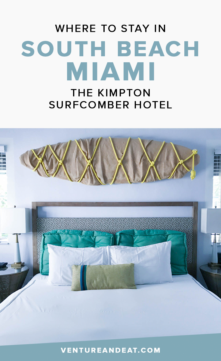 If you're thinking about visiting South Beach Miami and need some hotel inspiration, take a look at the Kimpton Surfcomber Hotel. The hotel is right on the beach and also in the heart of South Beach, so you won't miss any action. Read more to discover what the Kimpton Surfcomber can offer you!