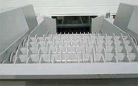 Scheiben-Rotorsieb  Scheiben-Rotorsiebe dienen zur Siebung des zu sortierenden Materials. Die Siebstufen und Siebteile werden dem Material angepasst.