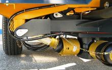 Stark dimensioniertes Getriebe und Gelenkwellen von Walterscheid mit Überlastsicherung (Standard-ausstattung)