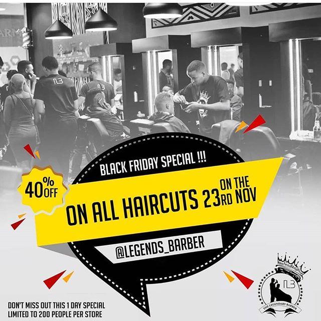 Get Legendary on Nov 23! (40% off all haircuts for the 1st 200 customers) 💇♂️💇♀️ #haircutsformen #legendaryexperience #legendsbarbershop #haircutsforwomen #barbershop #barberskills #mynewtown #workshopnewtown