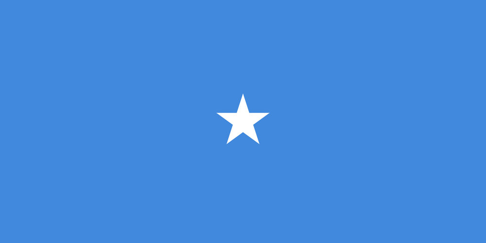 Official flag of the Federal Republic of Somalia