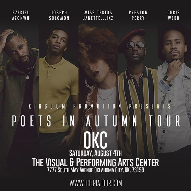 Tomorrow can't get here fast enough.  First show before the 35 city tour. #OKC come out for #poetsinautumn details on flyer and thepiatour.com