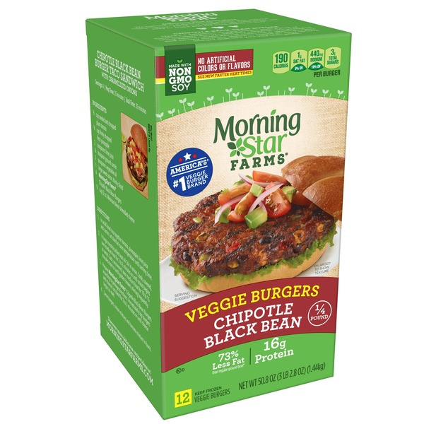 Healthy Vege Chipotle Black Bean Burger Morningstar Farms