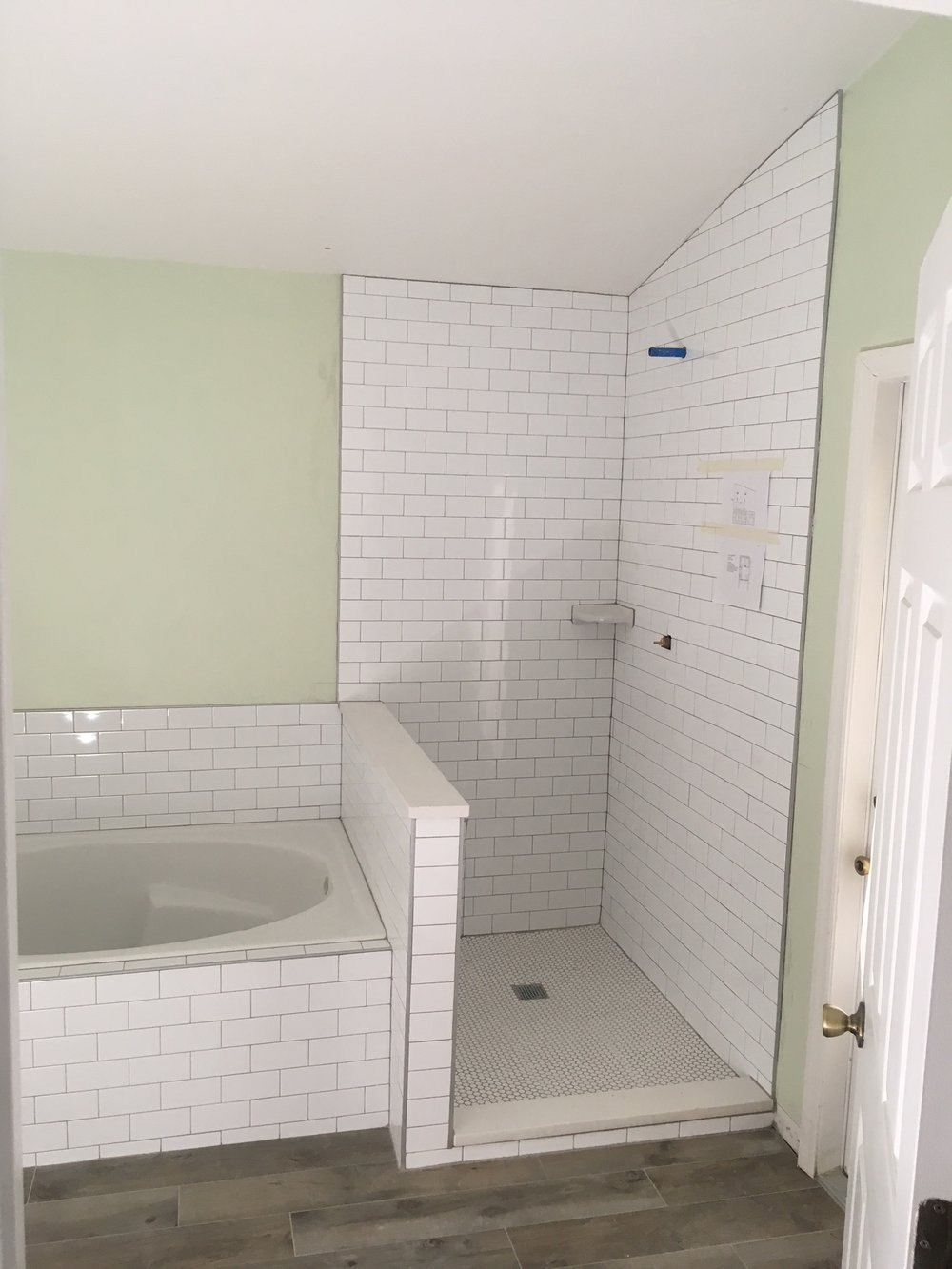 Bathroom Remodel - Final Step: Tile and Paint — All Time Services