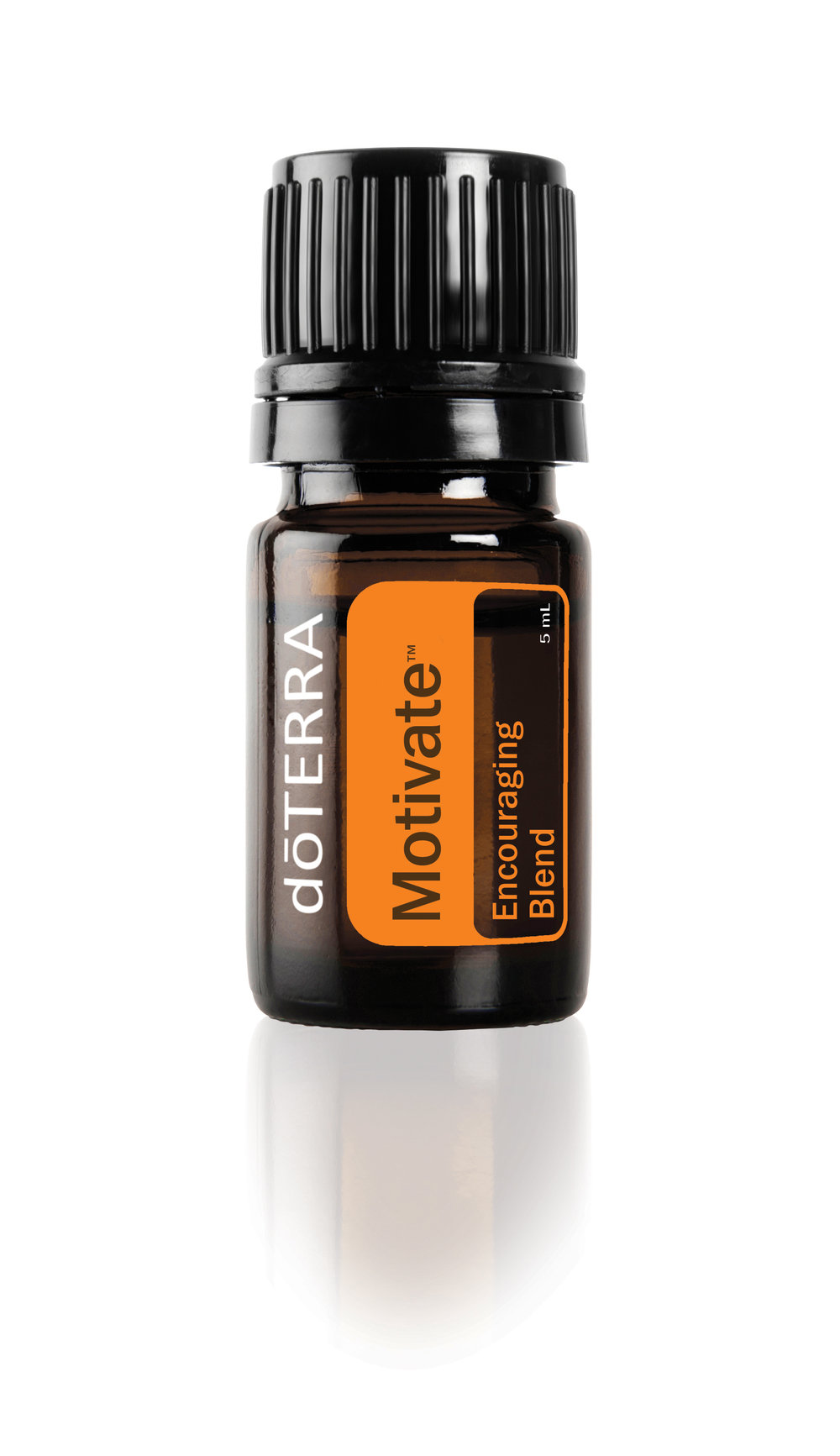 Feelings of confidence and courage will replace negative emotions like guilt and pessimism, with the doTERRA Motivate Encouraging Blend of mint and citrus essential oils. -