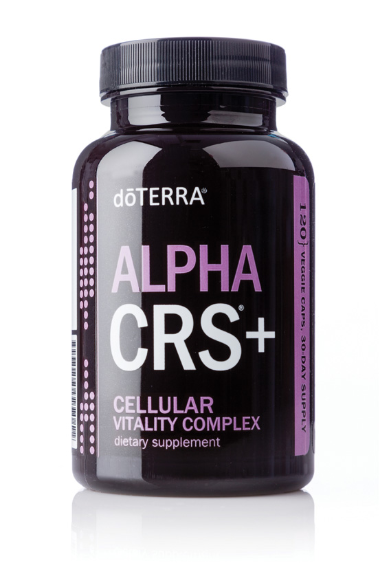 Alpha CRS+® Cellular Vitality CompletedōTERRA Alpha CRS+ Cellular Vitality Complex is a proprietary formula combining potent levels of natural botanical extracts that support healthy cell function with important metabolic factors of cellular energy.* Alpha CRS+ is formulated to be used daily with xEO Mega® or vEO Mega® and Microplex VMz® as a comprehensive dietary supplement foundation for a lifetime of vitality and wellness.* are the basic building block of all life. Healthy tissues, organs, and, ultimately, healthy organisms depend on cellular reproduction and specialized function, energy production, and timely cell death when cells are not functioning at optimal levels. As we age, cellular function can deteriorate and we gradually begin to experience decreased energy and performance.Additionally, cellular stressors, including oxidative stress to cellular DNA and other key cell structures, challenge cellular heath. Providing cells with essential nutrients and metabolic factors of cellular energy and protecting our cells from toxic stressors supports healthy cell function, vitality, and wellness.* -