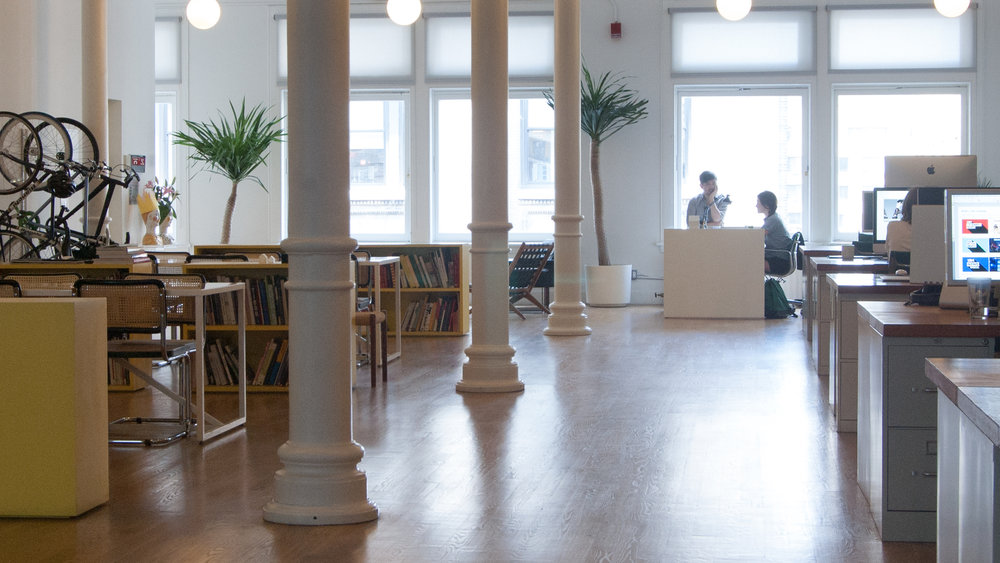 Gretel's studio is a 5,000 square foot space in the heart of Union Square.