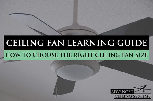 How to choose the right ceiling fan size advanced ceiling systems how to choose ceiling fan size guide mozeypictures Images