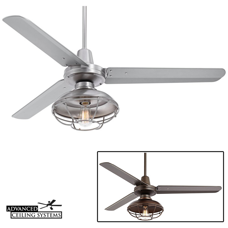 7 Rustic Industrial Ceiling Fans With Cage Lights You Ll Love Advanced Ceiling Systems