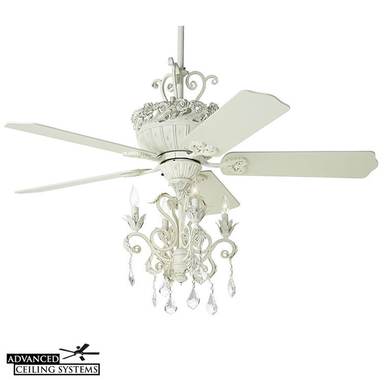 Shabby chic chandelier ceiling fan - Casa Vieja
