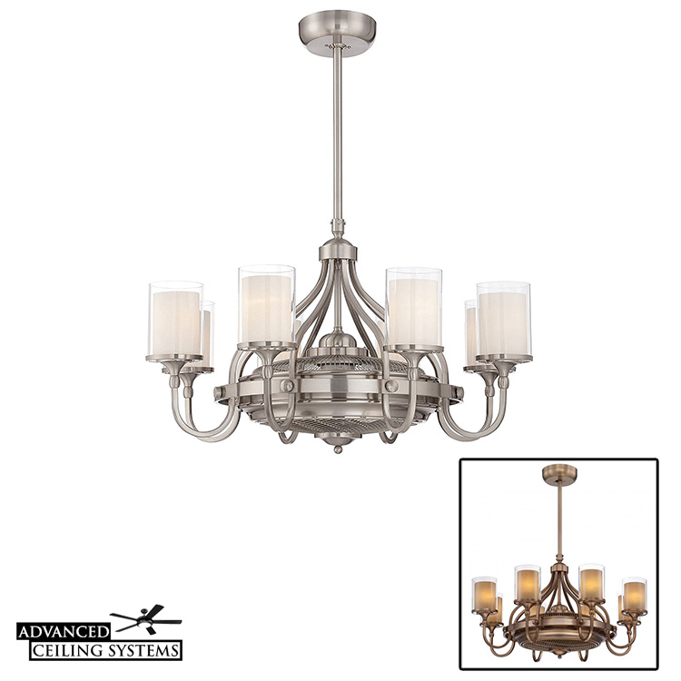 Shabby Chic Ceiling Fan Chandeliers - Savoy House Fandelier