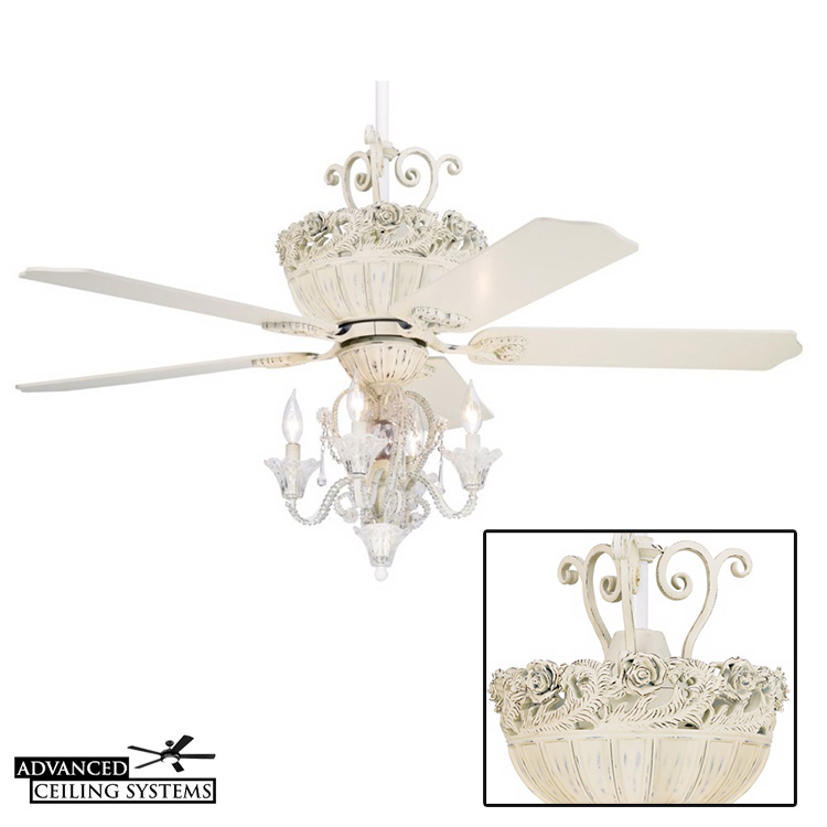 5 unique shabby chic ceiling fan chandeliers advanced ceiling systems shabby chic ceiling fan aloadofball Image collections