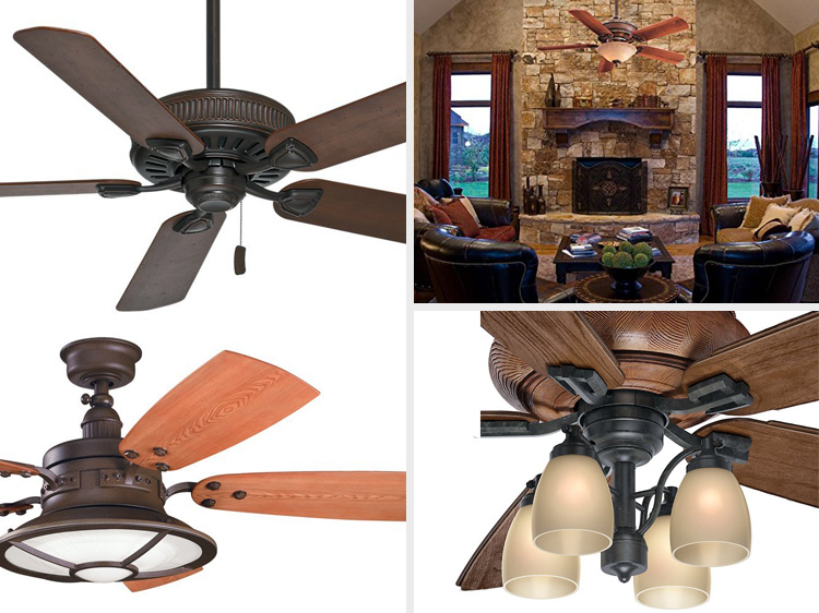 Arts and craft ceiling fans - mission craftsman style ceiling fan