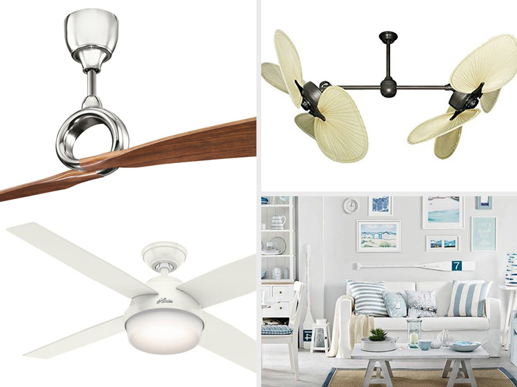 coastal style ceiling fans beach home decor