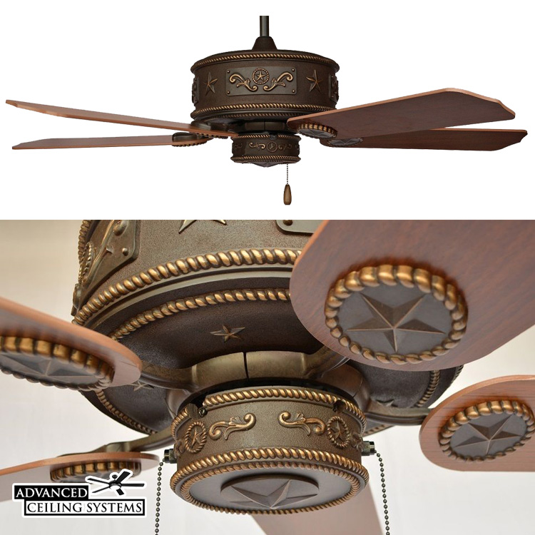 Texas Star Ceiling Fan Copper Canyon
