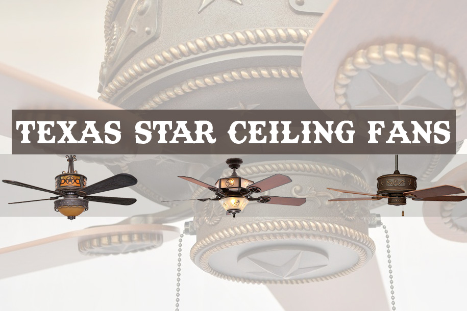 5 texas star ceiling fans to complete your western style decor