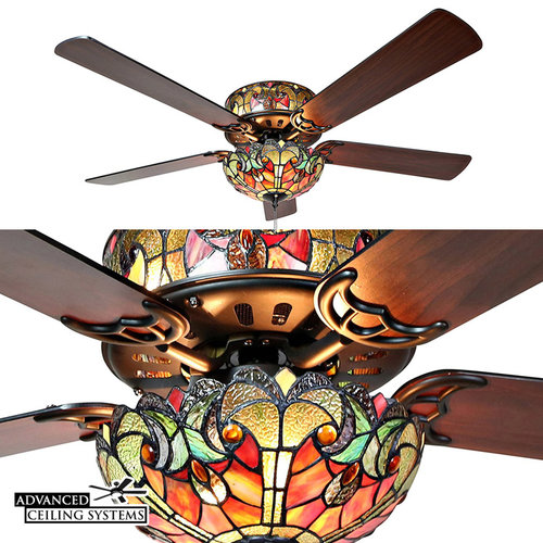These stained class ceiling fans will add color and style to any stained glass ceiling fans tiffany ceiling fan with aloadofball Image collections