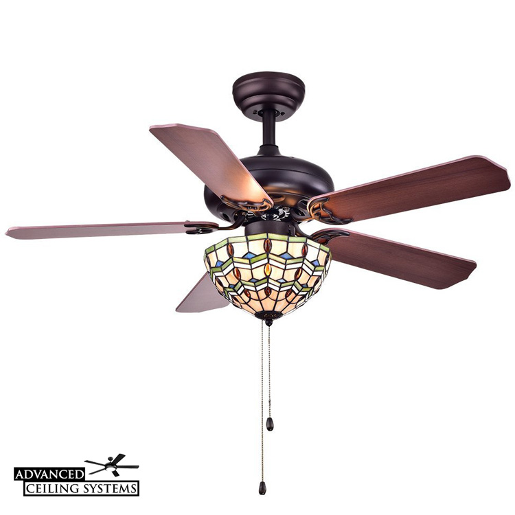 These Stained Class Ceiling Fans Will Add Color And Style to Any